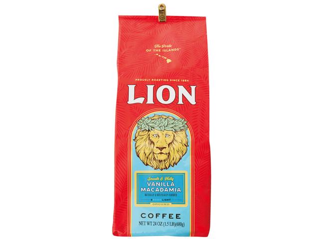 【正規輸入品】ライオンコーヒーバニラマカダミア 24oz(680g)【輸入食品】