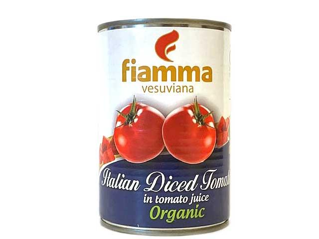 税込6,980円以上で送料無料 新色追加 フィアマ 有機ダイスド トマト 5%OFF 輸入食品 ダイス 缶入り 400g