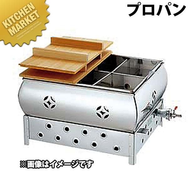 18-8 おでん鍋 (マツチ点火) 尺5 Lpガス(プロパン) 6ツ仕切り【kmaa】
