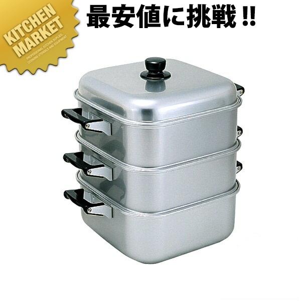 送料無料 アルマイト 角蒸器 二重 36cm 【kmaa】 角蒸器 蒸し器 角蒸し器 蒸し鍋 アルミ 業務用 領収書対応可能