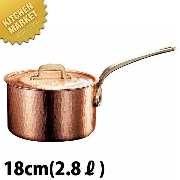 新鎚器銅器 深型 片手鍋 18cm 【kmaa】