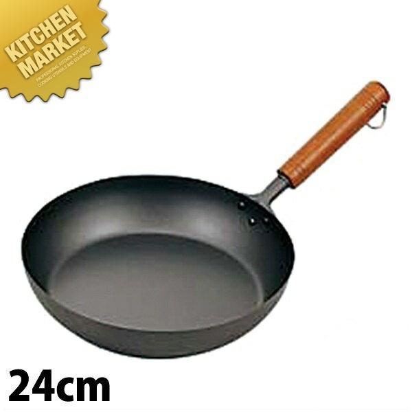 お見舞い HS 純チタン木柄フライパン 24cm 【kmaa】 フライパン 炒め鍋 深型 チタン 業務用, 加須市 9f55b02d