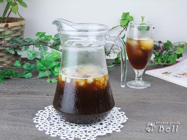 涼感たっぷり冷たい飲み物何でもOK ピッチャー ガラス 水差し 1L 蓋付き Arc アルク ARC社製 業務用食器