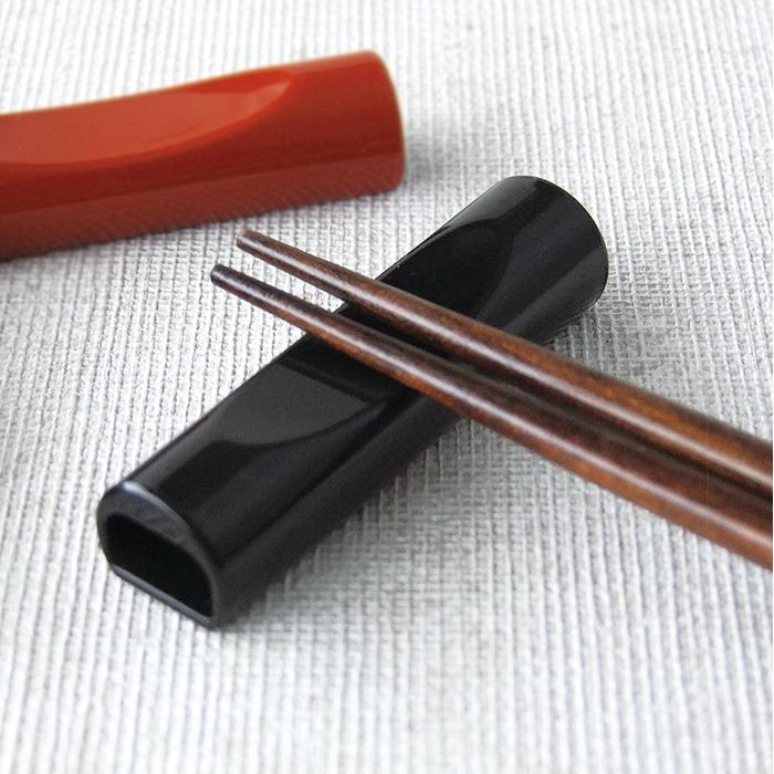 箸置き おしゃれお箸をまとめる 贈り物 枕型 箸止め 兼用 日本製 黒 業務用食器 メール便OK メーカー公式ショップ