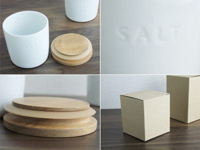 PL canister salt Acacia wooden lid with packing / Tamari 330 ml / save containers / sealed containers / storage container commercial tableware