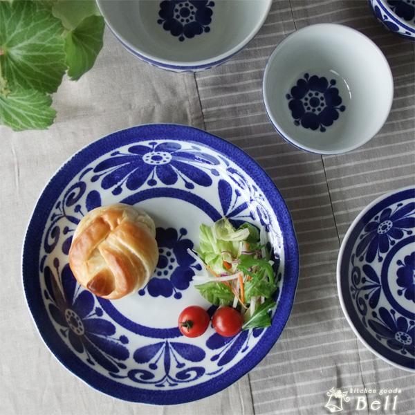 印象深いブルー インディゴブルー 大皿 24cm 盛り皿/盛皿/パスタ皿/ディナープレート/日本製/美濃焼/青/ブルー/ルリ瑠璃/おしゃれ/和食器/業務用食器