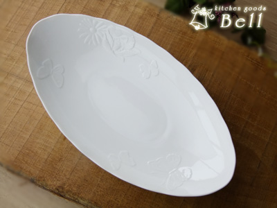 Butterfly oval Bowl (NB) W33cm. -Pasta dish / curry dish commercial kitchen / Mori Hanae Mori Hanae / made in Japan / Western instrument / oval dish / Ranch ... & kitchengoods-bell | Rakuten Global Market: Butterfly oval Bowl (NB ...