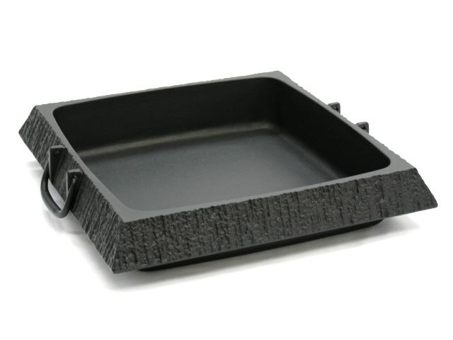 Southern iron rock casting Sukiyaki pot rock garden square (large) Southern iron / cast iron / Sukiyaki pot