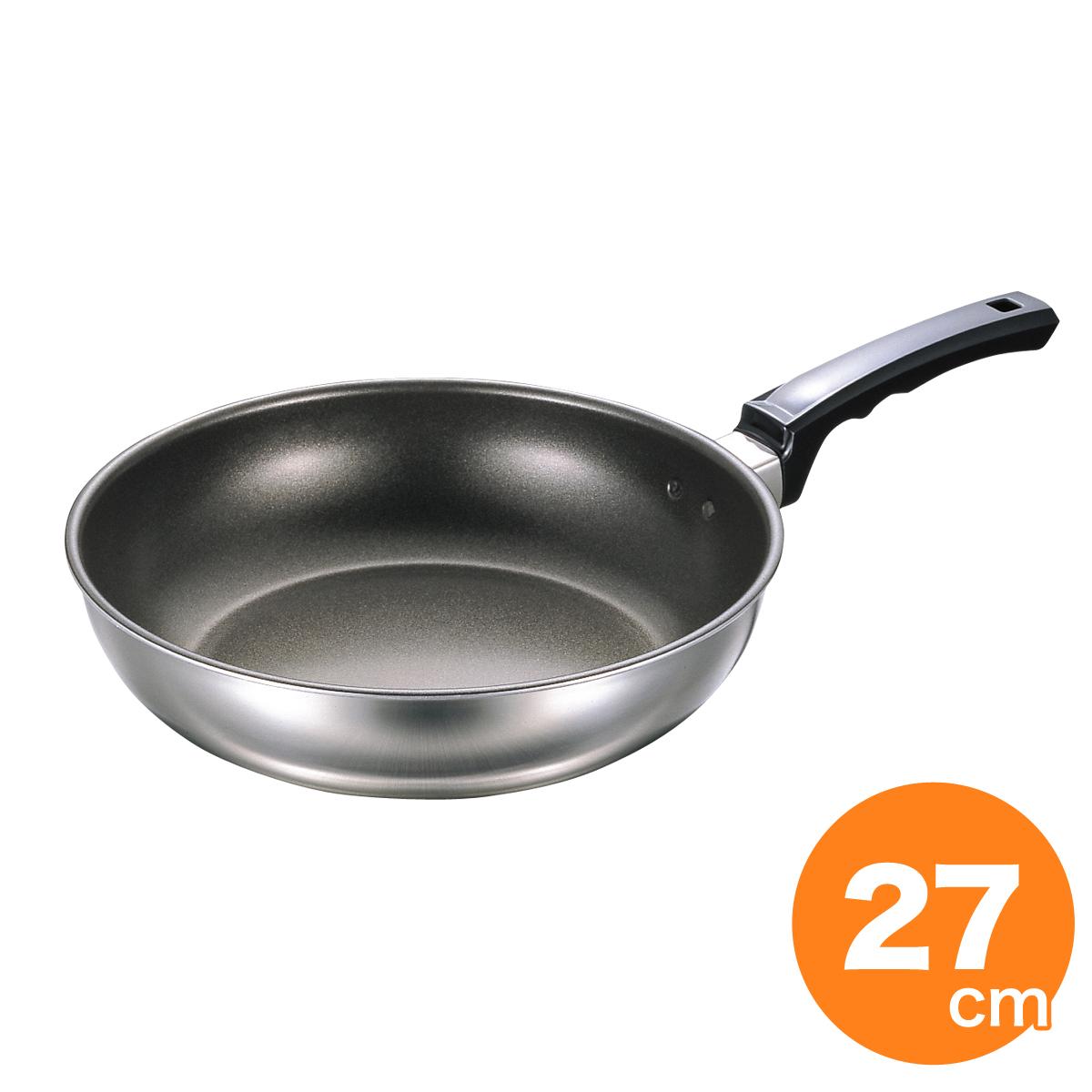 [2/10限定全品ポイント5倍]フジ IHいため鍋DX(フッ素樹脂加工) 27cm IH対応 フライパン