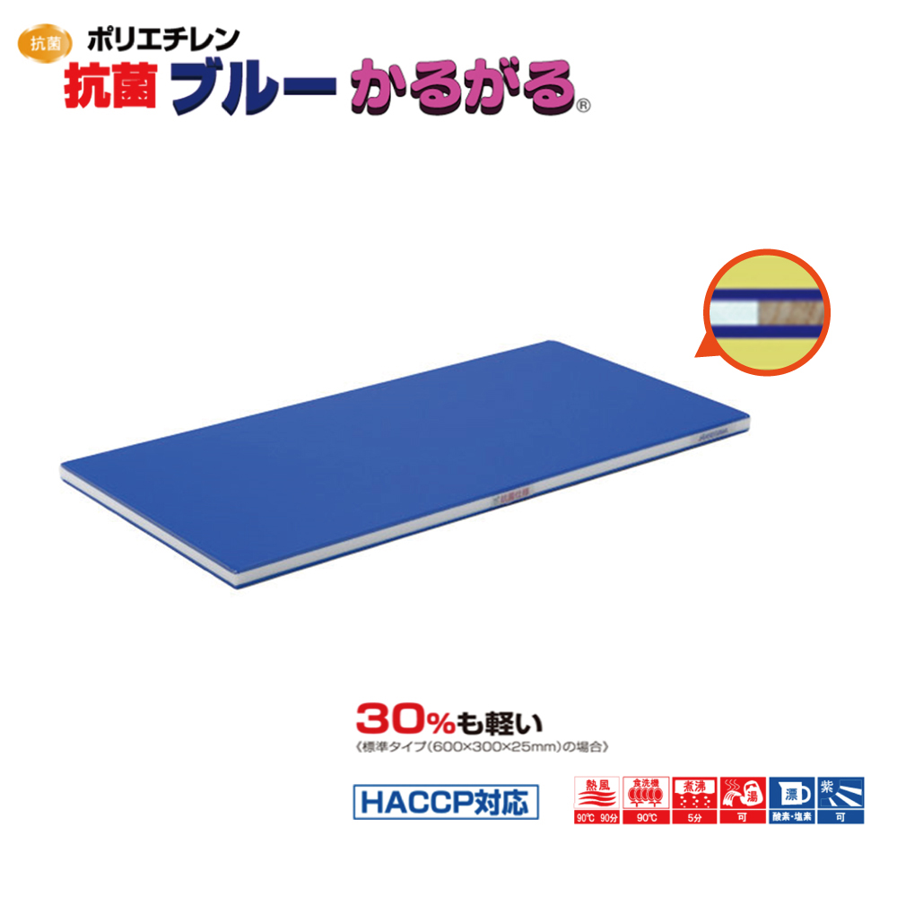ポリエチレン抗菌ブルーかるがる SDKB25-6035 まな板 抗菌 まな板 業務用 業務用 家庭用 カッティングボード おしゃれ かわいい シンプル 新生活 清潔