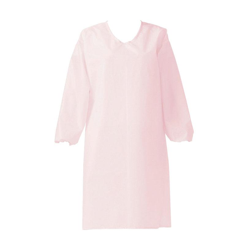 センシアエプロン 袖付 E1201-4H ピンク ひも