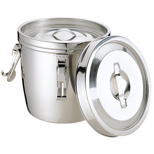 超定番の保温食缶! MT 二重汁食缶 クリップ付(両手式) 10L