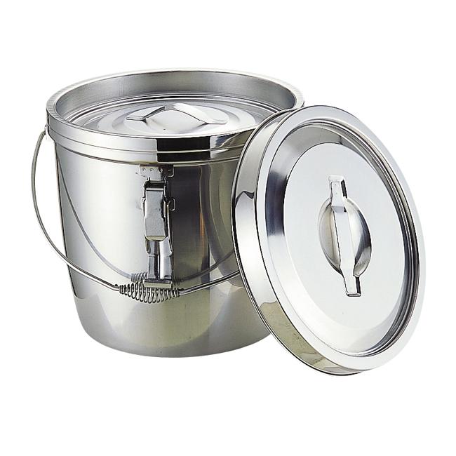 超定番の保温食缶! MT 二重汁食缶 クリップ付 ツル取手 6L