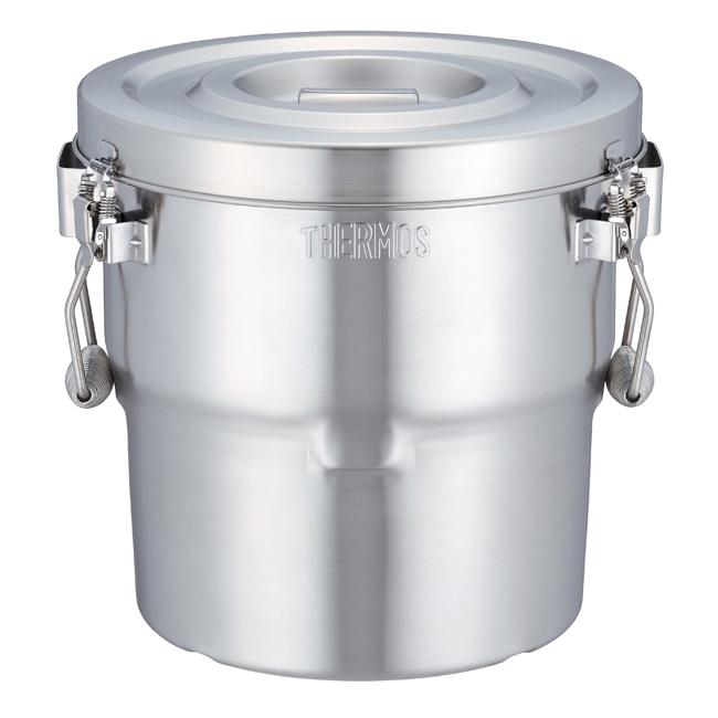サーモス独自の断熱構造により、空気二重断熱やウレタン断熱より高い保温・保冷性能を実現しています。 送料無料 サーモス 高性能保温食缶 シャトルドラム14L GBB-14C(S)