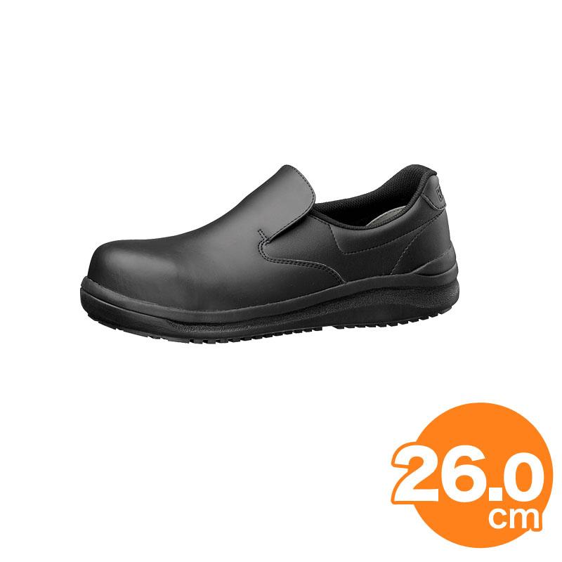 ハイグリップ耐滑安全靴NHS600 26cm 黒 コックシューズ 厨房用シューズ
