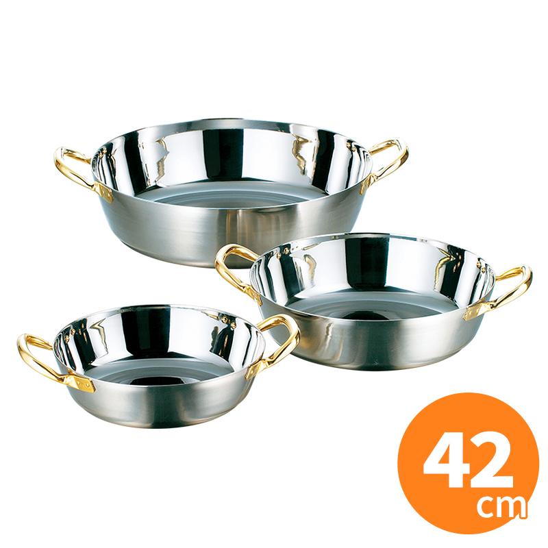 AG ステンレス揚げ物鍋 IH対応 42cm IH対応 天ぷら鍋