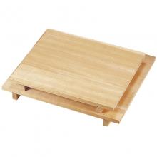 板厚3cmのアラスカヒノキ製 価値ある本格派 木製めん台 めん棒付 スプルス中 そば打ち道具 めん台 倉 [宅送]