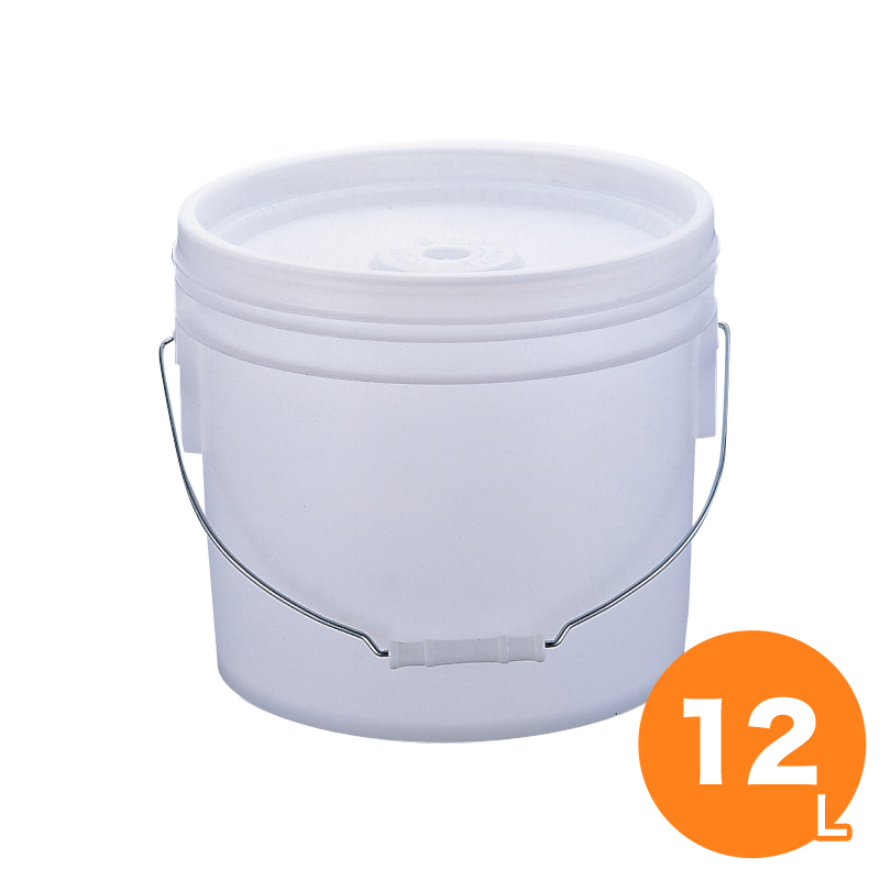 トスロン 丸型 密閉容器(蓋付) 12L ナチュラル 密閉 保存