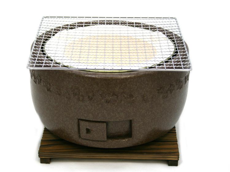 日本製キンカ 三河コンロ 大型(ブラウン) BBQ バーベキュー には 炭火 コンロ しちりん 七輪 が最適!