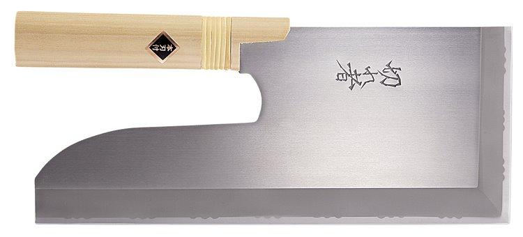 そば包丁 切れ者ステン金2号麺切り包丁300mm A-1058