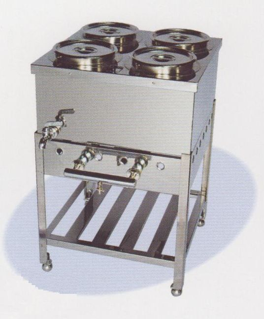 【送料無料】新品! 台付湯煎器4ツ穴