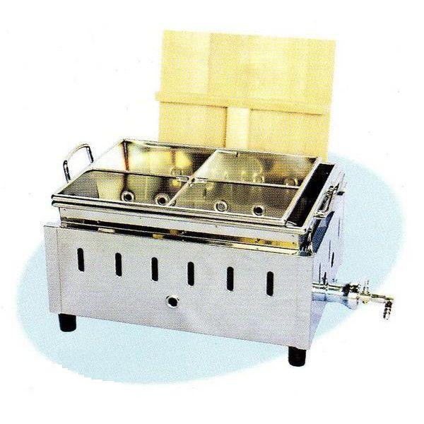 【送料無料】新品! 湯煎式 おでん鍋 (4ツ仕切)W430×D340×H240WK-13