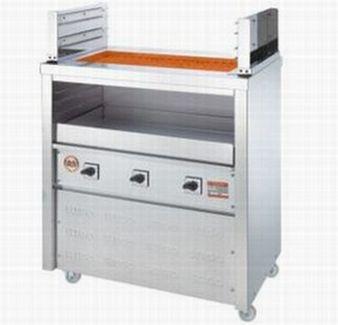 【送料無料】新品!ヒゴグリラー 二刀流タイプ 床置型 3H-210 【電気グリラー/床置型/焼物】
