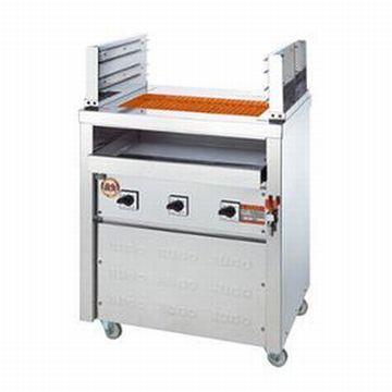 【送料無料】新品!ヒゴグリラー 二刀流タイプ 床置型 3H-212Y 【電気グリラー/床置型/焼物】