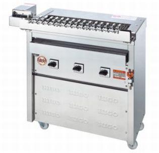 【送料無料】新品!ヒゴグリラー クルクル回転串焼機タイプ 3K-009X 【電気グリラー/回転式/焼物】