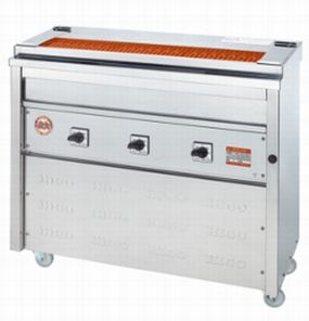 【送料無料】新品!ヒゴグリラー 焼鳥専用タイプ 床置型 3P-208K 【電気グリラー/床置型/焼物】