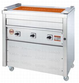 【送料無料】新品!ヒゴグリラー 万能型タイプ 床置型 3P-215 【電気グリラー/床置型/焼物】