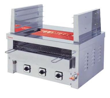 【送料無料】押切電機 卓上型 電気グリラー(両面焼棚付卓上万能タイプ) ツノ・給水口・排水口付 G-10TW-1