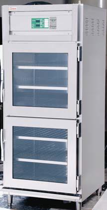 【送料無料】押切電機 電気温蔵庫(前面開扉タイプ 上・下2枚扉 ガラス型) OHS-75-GTA