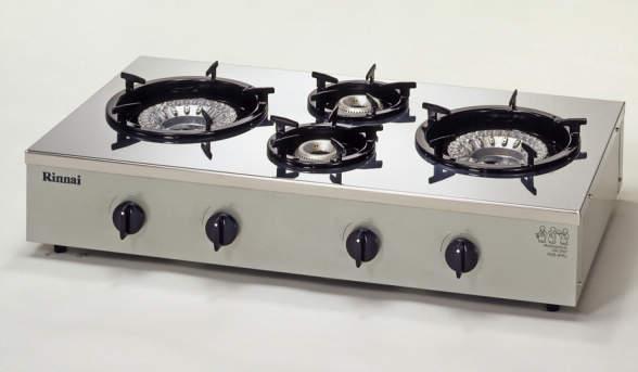 【送料無料】新品!リンナイ 4口卓上ガスコンロ スタンダードタイプ RSB-4PRJ