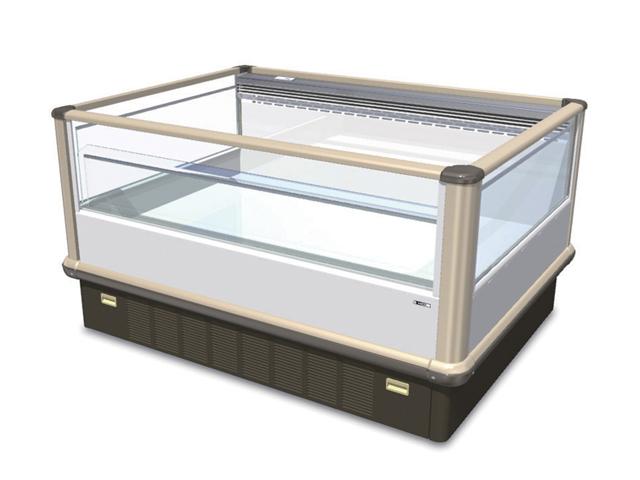 【送料無料】新品!サンデン 両面平型 冷凍オープンショーケース(341L) SJAL-058GZB