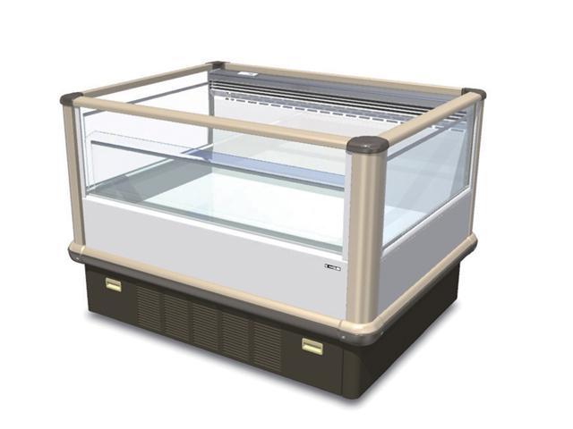 【送料無料】新品!サンデン 両面平型 冷凍オープンショーケース(202L) SPAL-048GZB