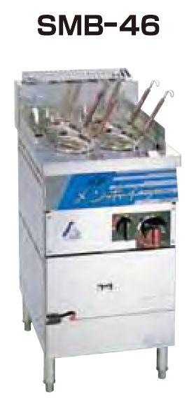 【送料無料】新品!SANPO ガス式高速メンボイラー(テボ4個) SMB-46