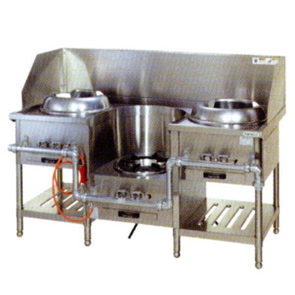 【送料無料】新品!タニコー 3口中華レンジ (イタメ*スープ*(麺)イタメ) CR-150