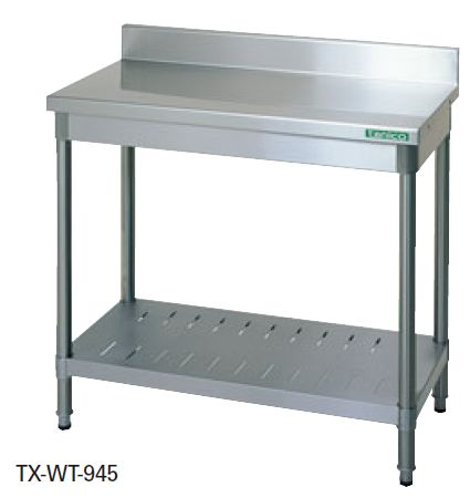 【送料無料】新品!タニコー 作業台 (バックガードあり) W900*D450*H800 TX-WT-945