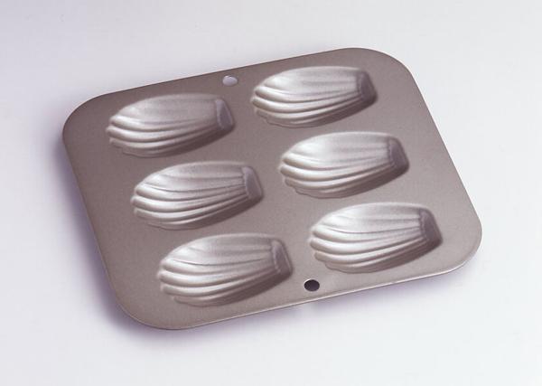 卸売り ベイクウェアー マドレーヌ シェル型 永遠の定番 フッ素樹脂加工 スリム 6P