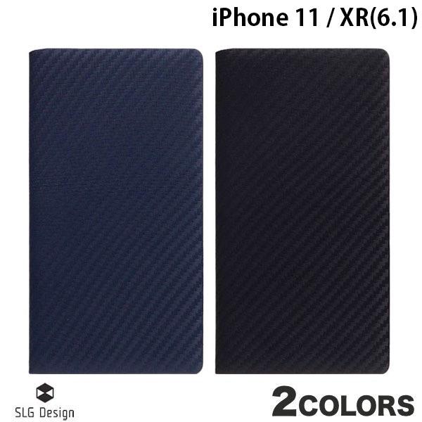 【クーポン有】 SLG Design iPhone 11 / XR carbon leather case 本革 カーボン柄 手帳型ケース エスエルジー デザイン (iPhone 11 / XR スマホケース) [PSR]