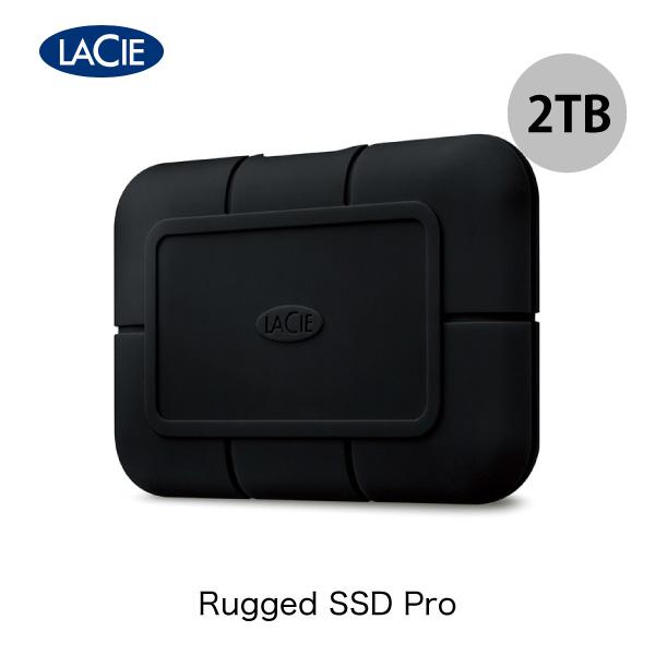 Thunderbolt 3対応 外部からの衝撃をやわらげる耐衝撃設計 SSD クーポン有 Lacie 2TB Rugged NEW Pro 3 USB 3.1 ポータブル 耐衝撃 対応 外付けSSD 2 Type-C PSR # ラシー STHZ2000800 Gen おすすめ特集 Thunderbolt関連製品