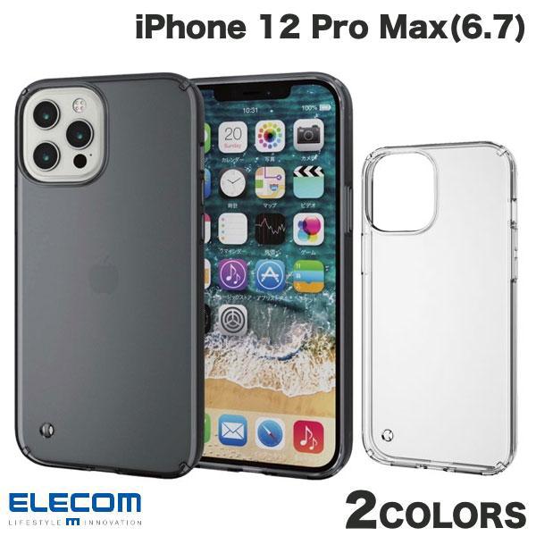 人気ショップが最安値挑戦 最もシンプルなスタイルで衝撃から守る ハイブリッドケース ネコポス発送 ELECOM エレコム iPhone 12 PSR スマホケース Max Pro TRANTECT iPhone12ProMax 低廉