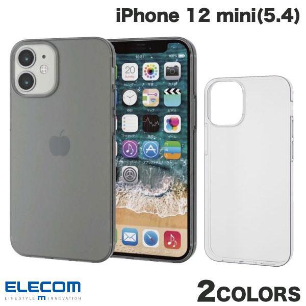 TPU 熱可塑性ポリウレタン 素材を使用したソフトケース ネコポス発送 ELECOM エレコム iPhone mini 正規激安 薄型 iPhone12mini ソフトケース スマホケース PSR 正規激安 12