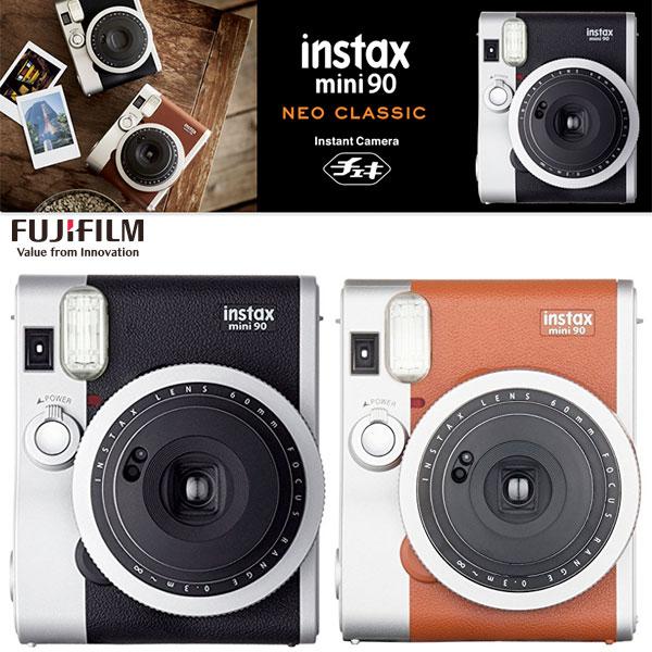 【先着クーポンあり】 FujiFilm インスタントカメラ チェキ instax mini 90 ネオクラシック フジフィルム (Apple製品関連アクセサリ) [PSR]