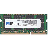 【クーポン有】 iRam PC3-12800 (DDR3-1600) SO.DIMM 8GB # IR8GSO1600D3 アイラム (Macメモリー) iMac , MacBook Pro , Mac mini メモリー 増設