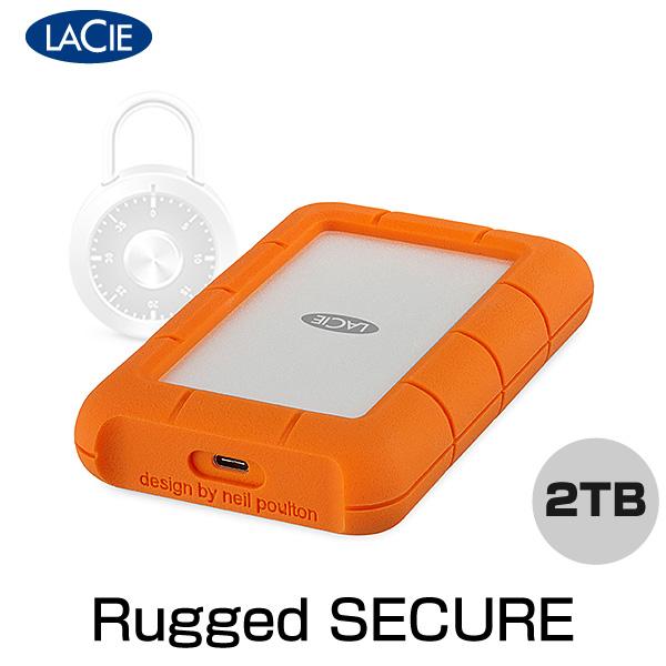 【クーポン有】 Lacie Rugged SECURE 2TB # STFR2000403 ラシー (パソコン周辺機器)
