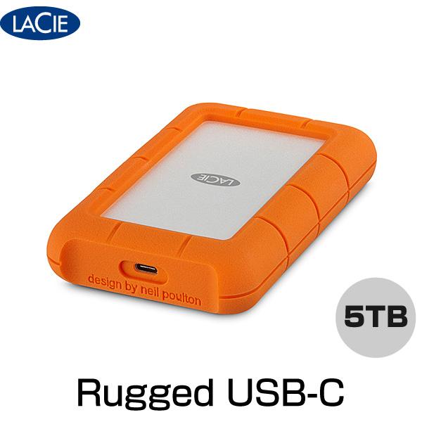 【マラソン日替クーポン有】 Lacie Rugged USB-C 5TB # STFR5000800 ラシー (パソコン周辺機器)