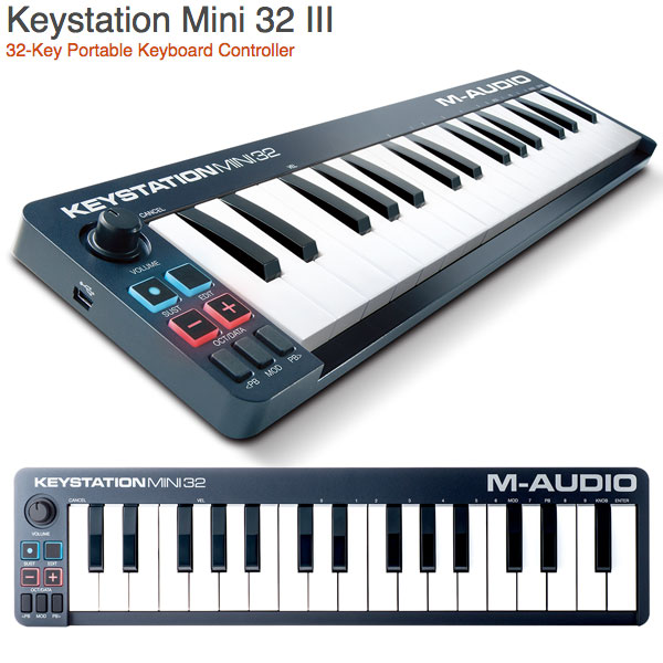 M-AUDIO Keystation Mini 32 MK3 USB MIDIキーボード32鍵 # MA-CON-034  エムオーディオ  (MIDIキーボード)