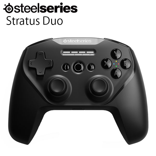 SteelSeries Stratus Duo 有線 / Bluetooth 接続 / 2.4GHz 無線 レシーバー付き コントローラー # 69075 スティールシリーズ (ゲームコントローラー)